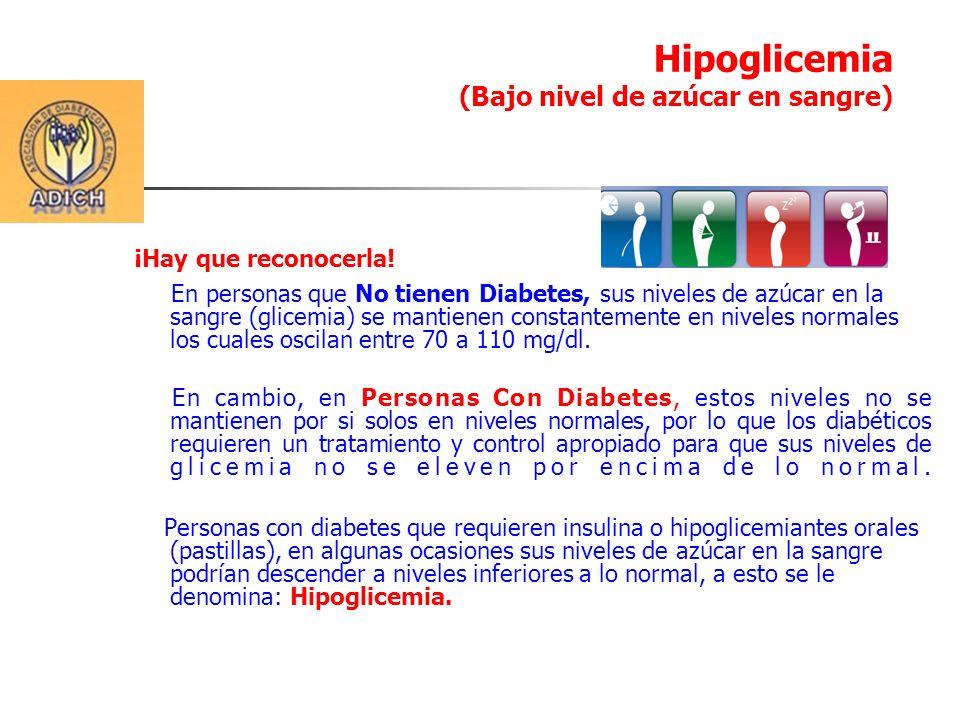 La Hipoglicemia, generalmente no es una condición grave y puede ser tratada fácilmente ingiriendo azúcar, alguna bebida o comida dulce.