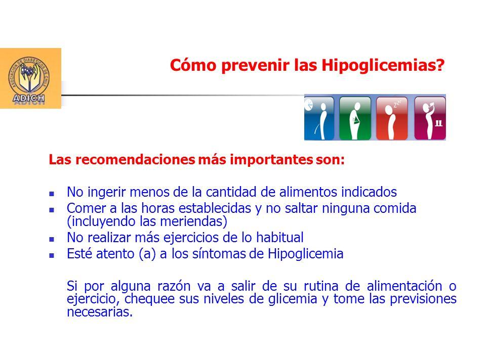 ¿Qué debo hacer en caso de Hipoglicemia.
