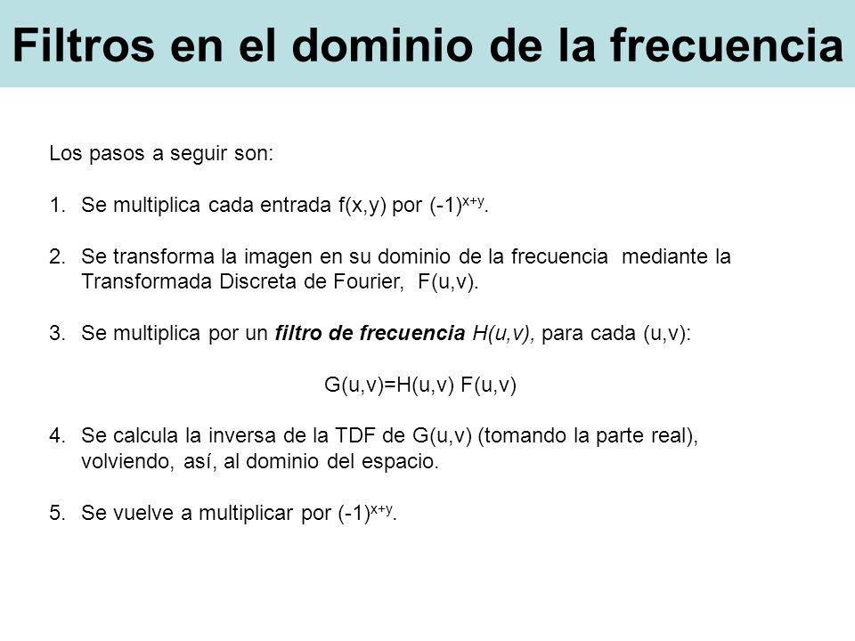 Los pasos a seguir son: 1.Se multiplica cada entrada f(x,y) por (-1) x+y.