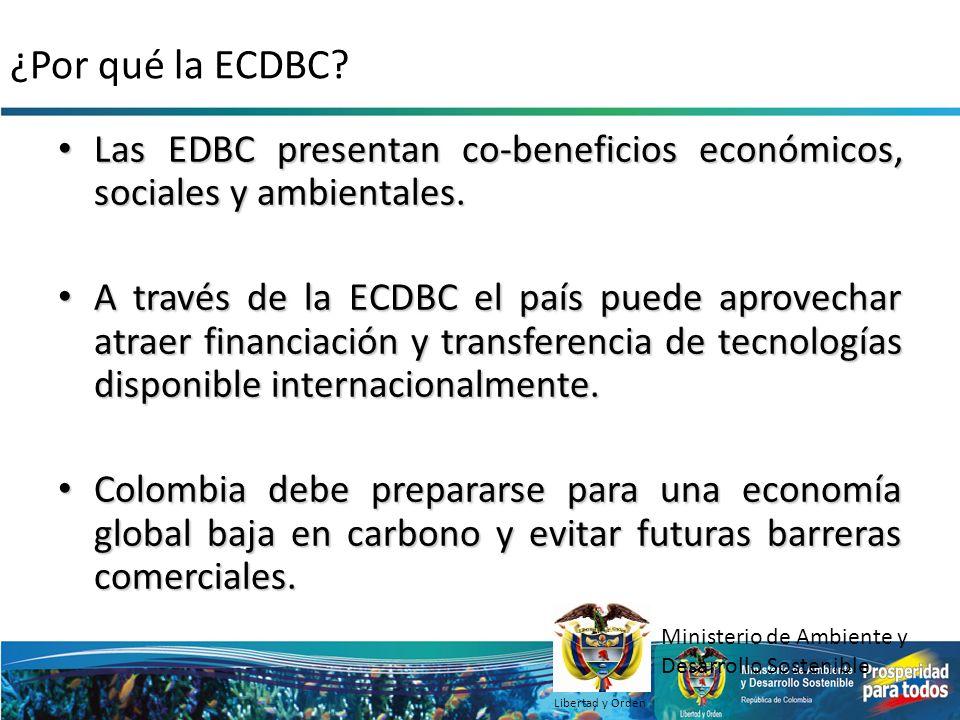 ¿Por qué la ECDBC? Las EDBC presentan co-beneficios económicos, sociales y ambientales. Las EDBC presentan co-beneficios económicos, sociales y ambien