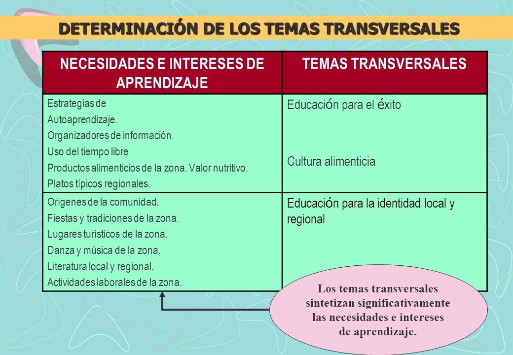 NECESIDADES E INTERESES DE APRENDIZAJE TEMAS TRANSVERSALES Estrategias de Autoaprendizaje.