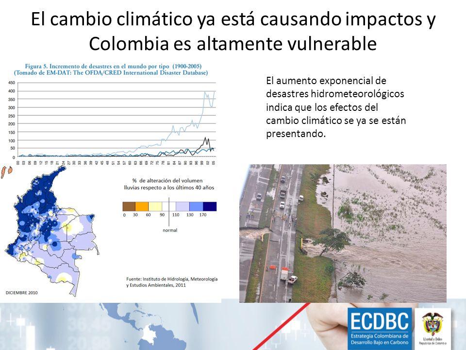 El cambio climático ya está causando impactos y Colombia es altamente vulnerable El aumento exponencial de desastres hidrometeorológicos indica que lo