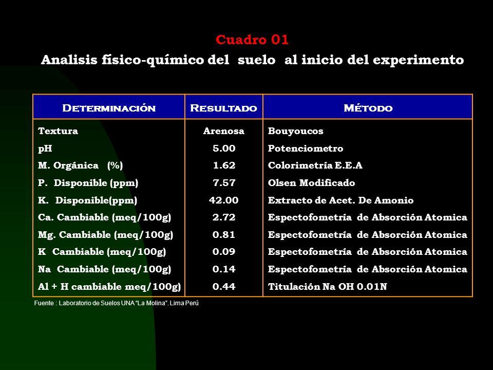Características Edafoclimáticas Suelo. Orden : Ultisoles (Paleudult típico), Serie : Tarapoto Amarillo. Características : Desarrollados sobre material
