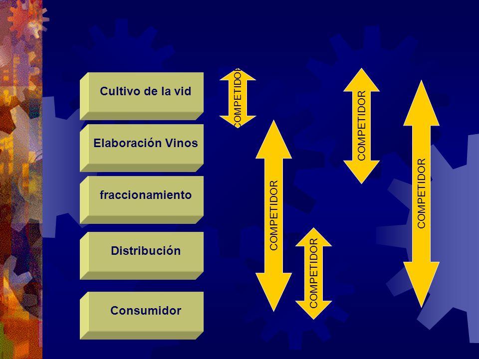 Cultivo de la vid Consumidor Distribución fraccionamiento Elaboración Vinos COMPETIDOR