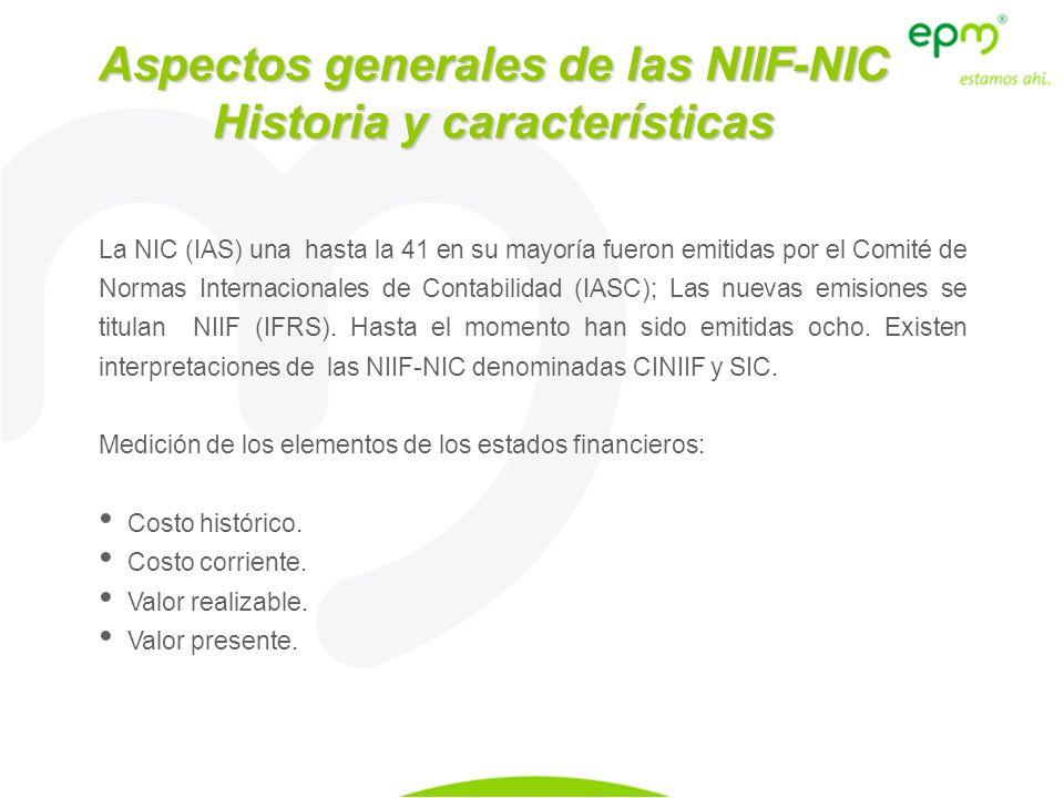 La NIC (IAS) una hasta la 41 en su mayoría fueron emitidas por el Comité de Normas Internacionales de Contabilidad (IASC); Las nuevas emisiones se tit