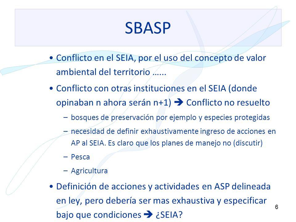 7 SBASP La ley sobre el SBASP incorpora procedimientos de creación de ASP.