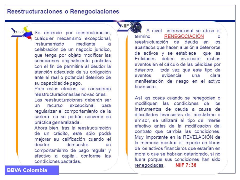 Reestructuraciones o Renegociaciones Se entiende por reestructuración, cualquier mecanismo excepcional, instrumentado mediante la celebración de un ne