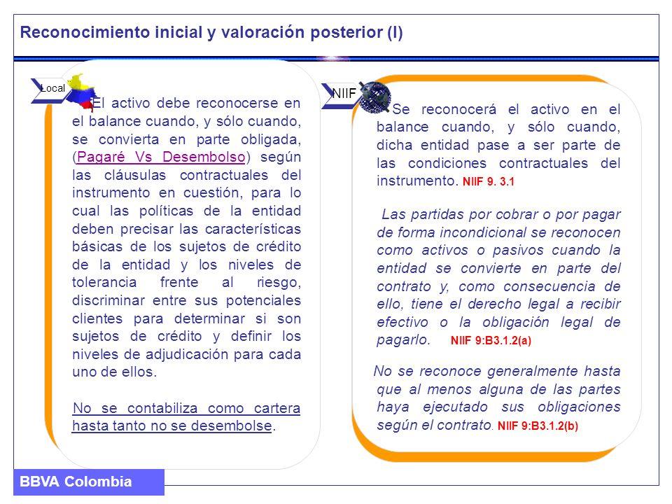 Se reconocerá el activo en el balance cuando, y sólo cuando, dicha entidad pase a ser parte de las condiciones contractuales del instrumento. NIIF 9.