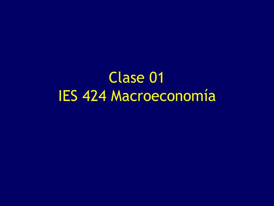 Clase 01 IES 424 Macroeconomía