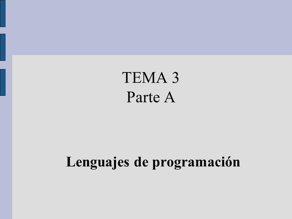 TEMA 3 Parte A Lenguajes de programación