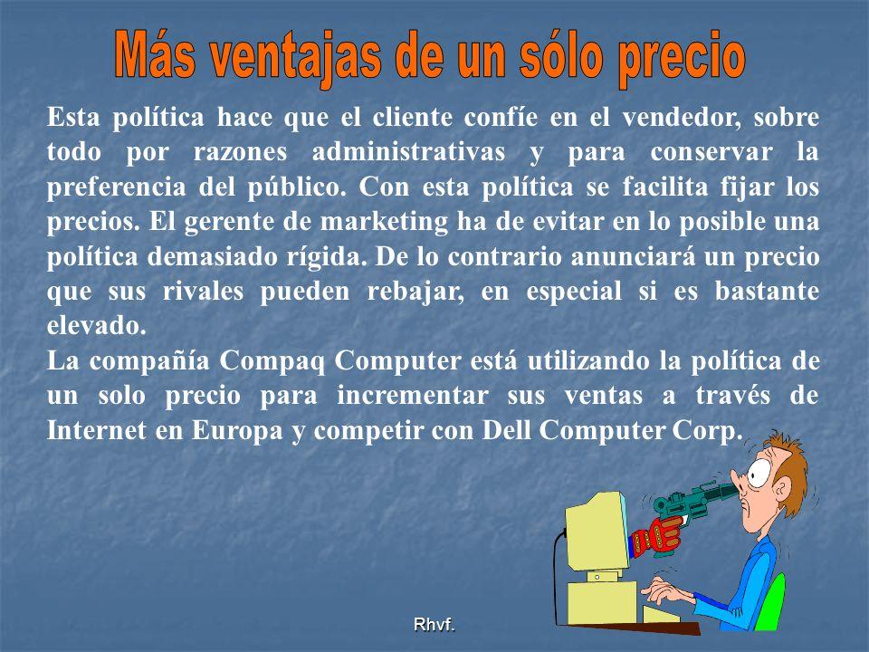 Rhvf. Esta política hace que el cliente confíe en el vendedor, sobre todo por razones administrativas y para conservar la preferencia del público. Con