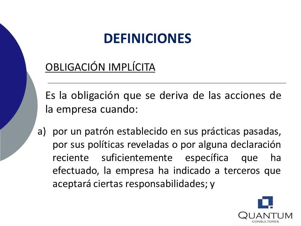 OBLIGACIÓN LEGAL Es una obligación que se deriva de un contrato, de las leyes o de algún otro efecto legal. DEFINICIONES