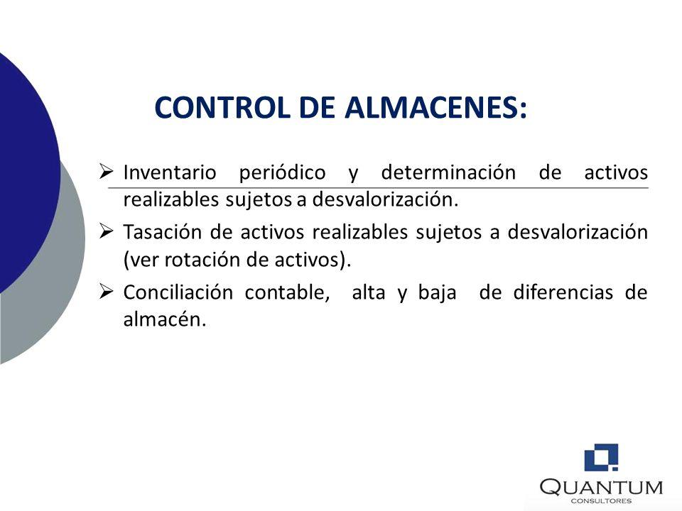 CONTROL PATRIMONIAL DE ACTIVOS: Determinación de Vida útil, valor residual, valor neto de depreciable para efectos de alta contable y verificación anu