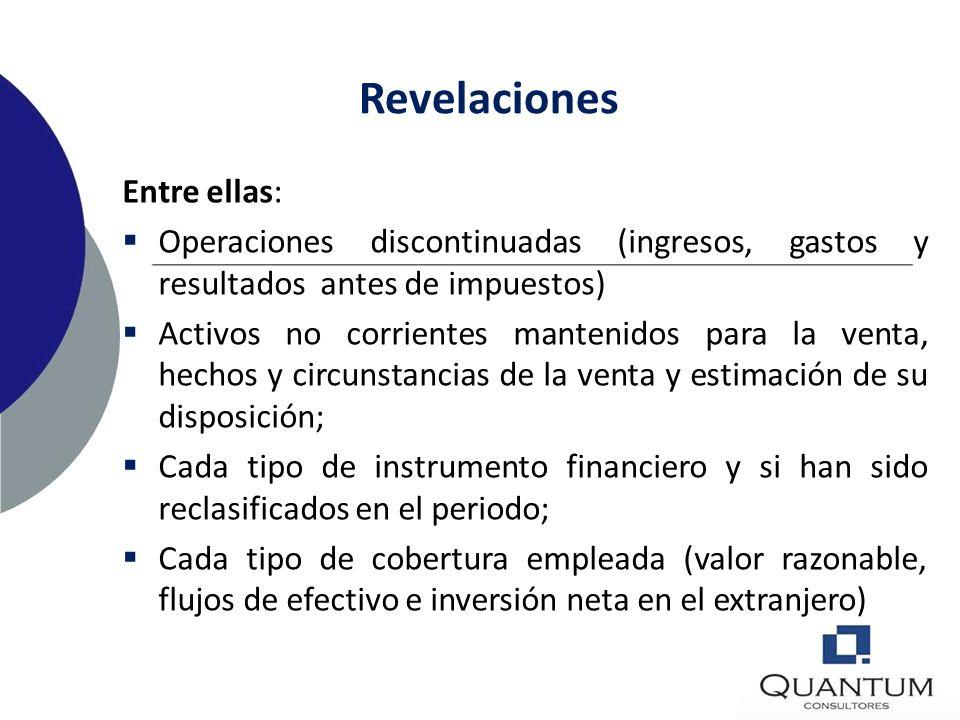 Revelaciones Entre ellas: Autorización de los estados financieros para su publicación, y quien autoriza; Conciliación numérica entre el gasto (ingreso