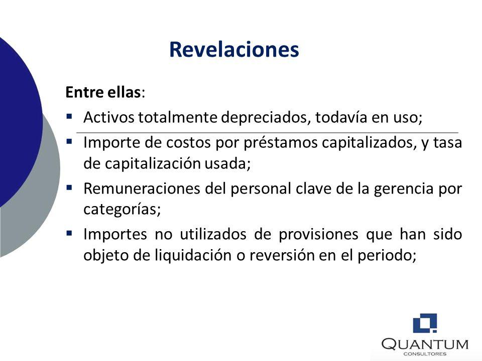 Revelaciones Entre ellas: Exposición al riesgo (crédito, cambiario, de liquidez, de mercado ); Naturaleza y efectos financieros de actividades de nego