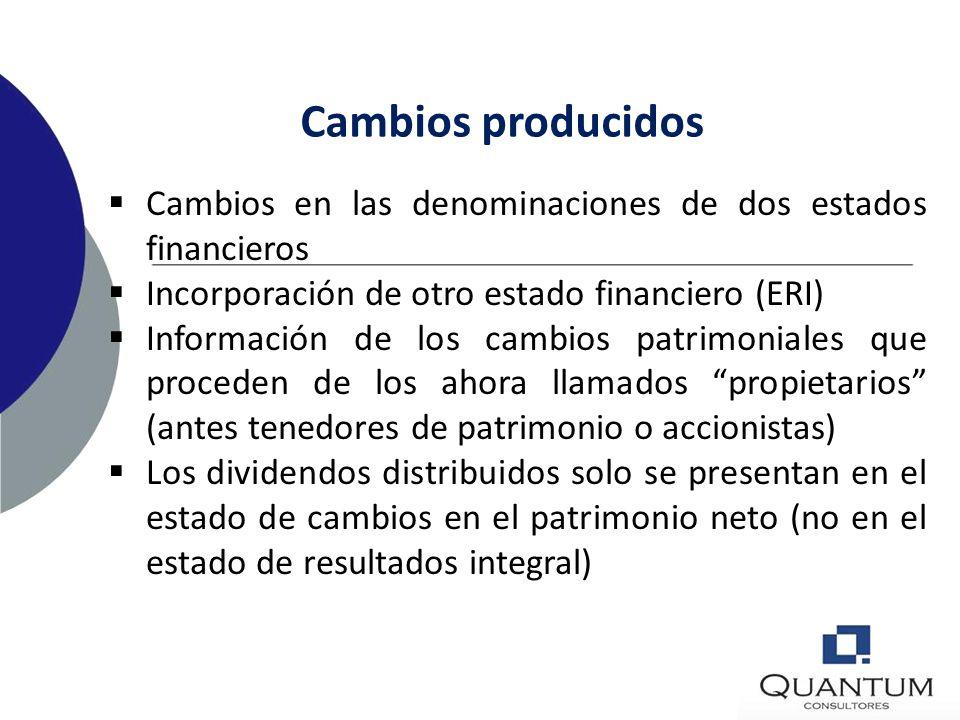 Presentación de estados financieros 4