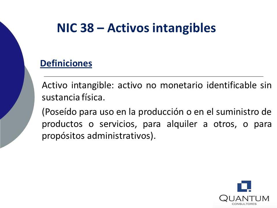 Activos intangibles - NIC 38 77
