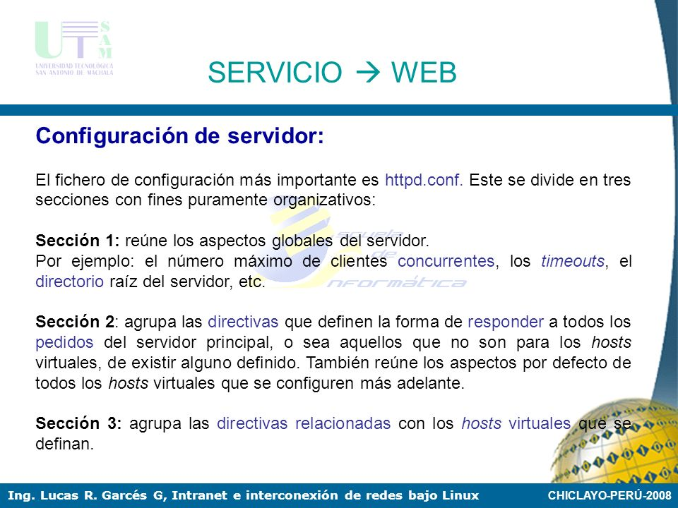 CHICLAYO-PERÚ-2008 Ing. Lucas R. Garcés G, Intranet e interconexión de redes bajo Linux Si se utiliza de CentOS 4.0 o White Box Enterprise Linux 4.0,