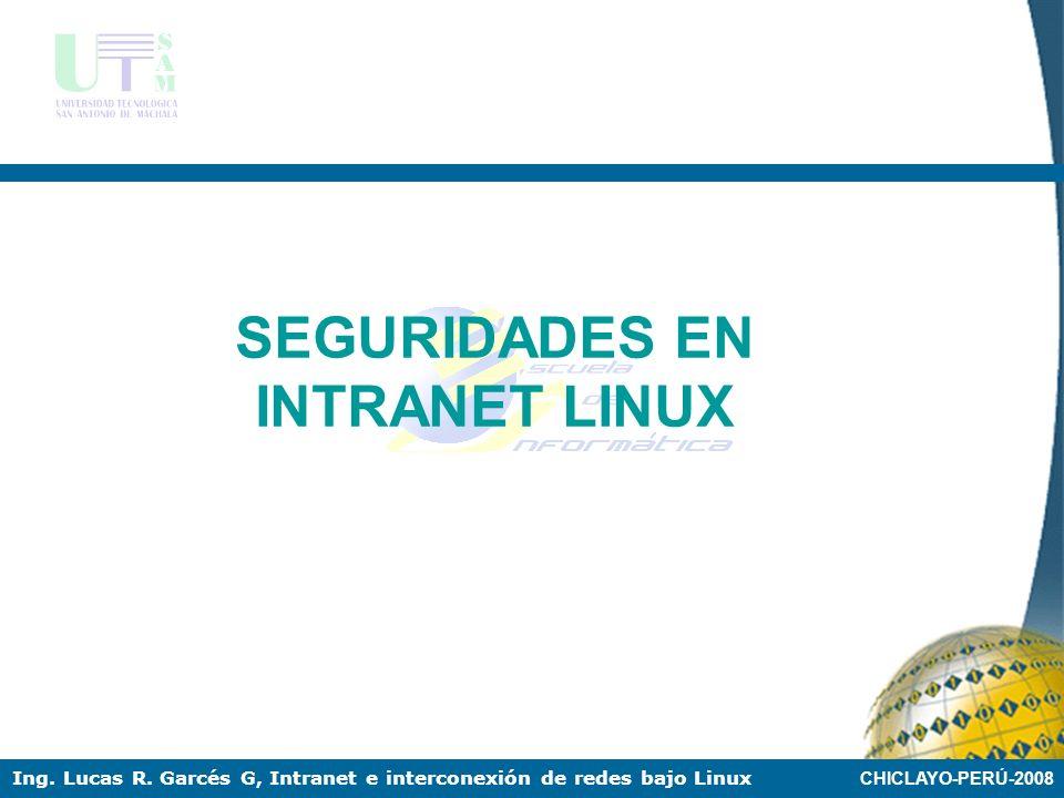 CHICLAYO-PERÚ-2008 Ing. Lucas R. Garcés G, Intranet e interconexión de redes bajo Linux FTP Acceso ftp desde el Windows, Se debe ejecutar desde el bro