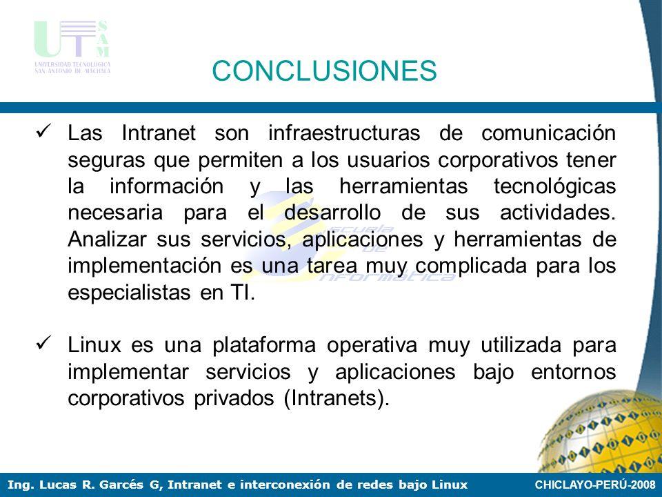 CHICLAYO-PERÚ-2008 Ing. Lucas R. Garcés G, Intranet e interconexión de redes bajo Linux (1)Instalar la tarjeta física (2)Crear las dos tarjetas virtua