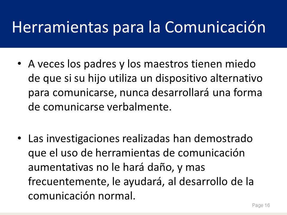 A veces los padres y los maestros tienen miedo de que si su hijo utiliza un dispositivo alternativo para comunicarse, nunca desarrollará una forma de comunicarse verbalmente.