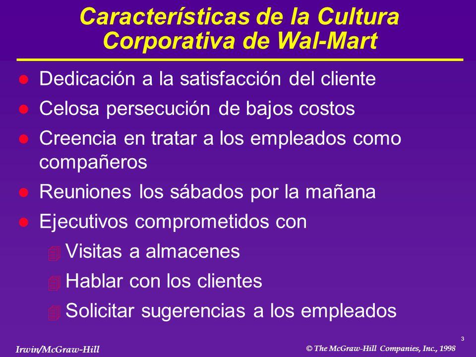 4 © The McGraw-Hill Companies, Inc., 1998 Irwin/McGraw-Hill De Dónde Viene la Cultura Corporativa.