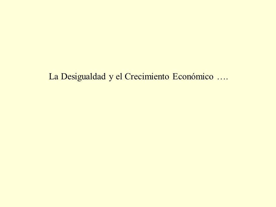 La Desigualdad y el Crecimiento Económico ….