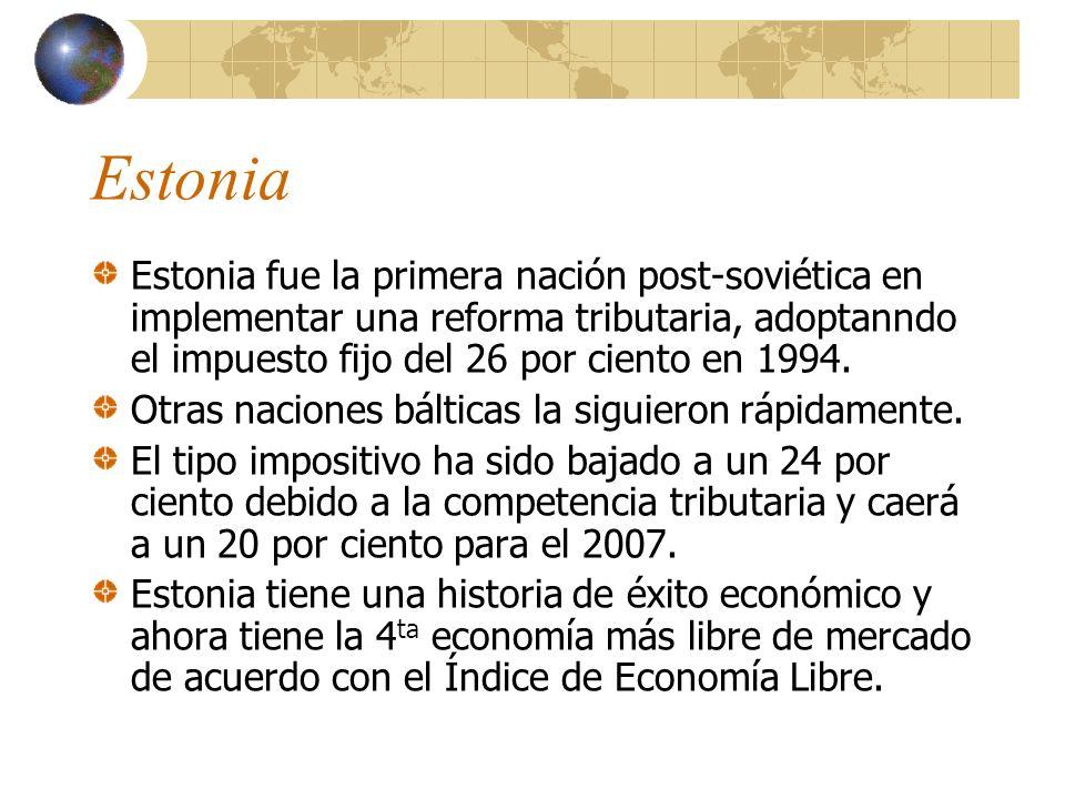 La Evidencia Apoya a la Buena Política Estonia Irlanda Rusia Eslovaquia Estados Unidos Hong Kong