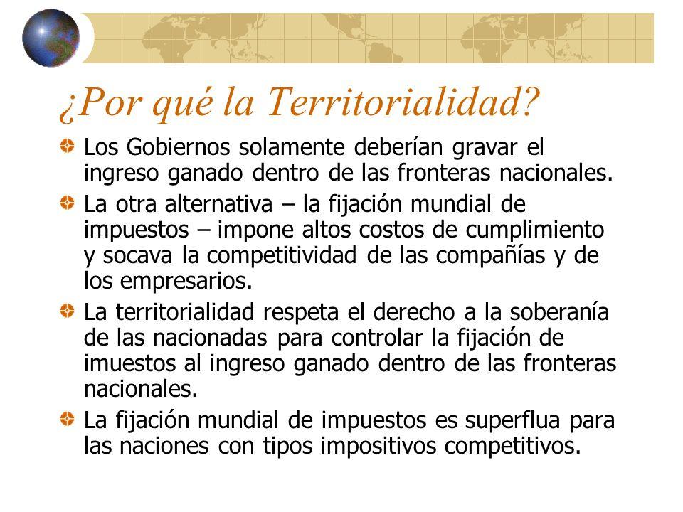 Competitividad…continuación La competencia tributaria es una fuerza poderosa para la liberización económica, una que debería ser celebrada en vez de ser perseguida.