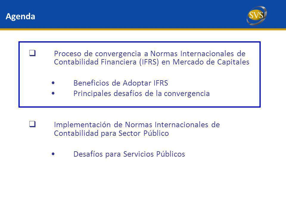 Agenda Proceso de convergencia a Normas Internacionales de Contabilidad Financiera (IFRS) en Mercado de Capitales Beneficios de Adoptar IFRS Principal