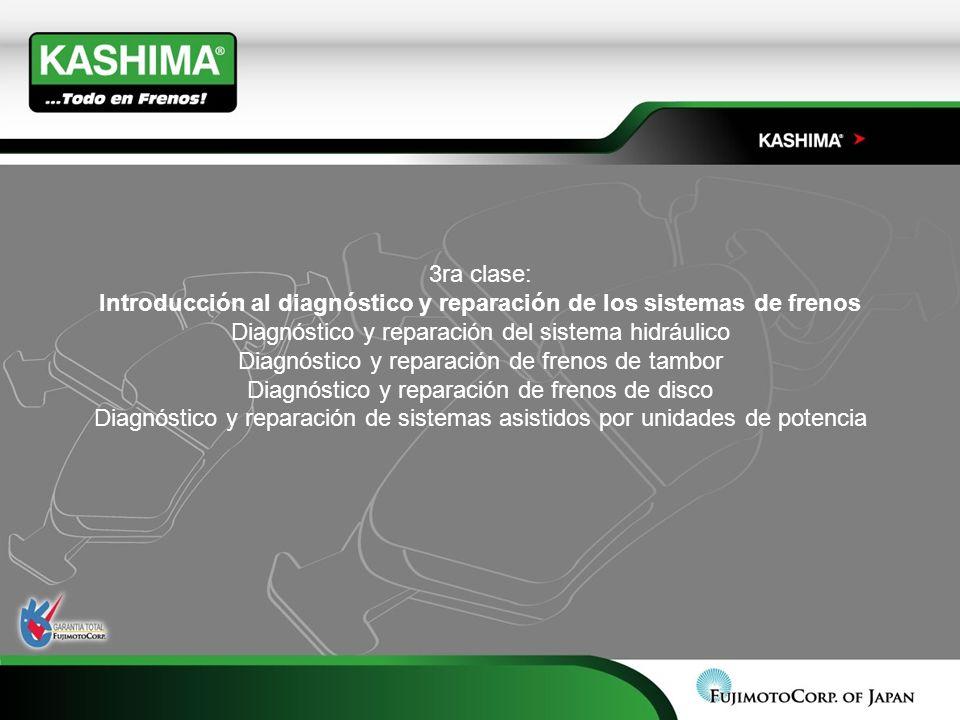 3ra clase: Introducción al diagnóstico y reparación de los sistemas de frenos Diagnóstico y reparación del sistema hidráulico Diagnóstico y reparación