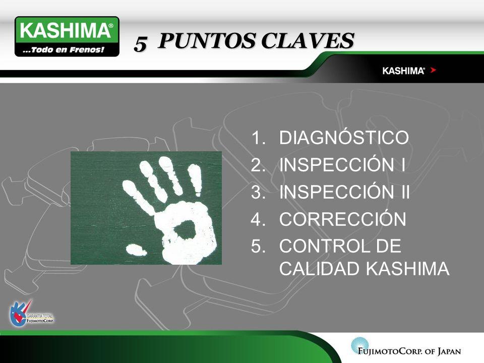 5 PUNTOS CLAVES 5 PUNTOS CLAVES 1.DIAGNÓSTICO 2.INSPECCIÓN I 3.INSPECCIÓN II 4.CORRECCIÓN 5.CONTROL DE CALIDAD KASHIMA