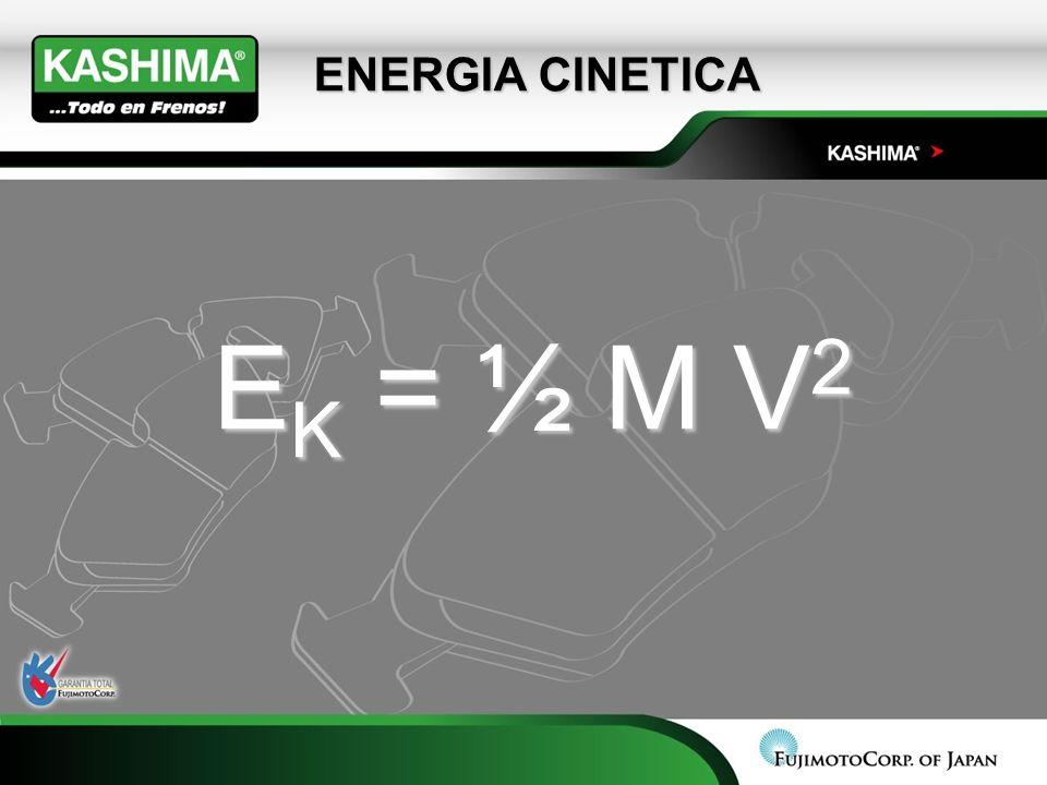 ENERGIA CINETICA E K = ½ M V 2