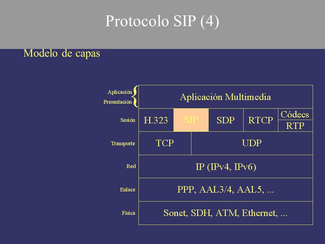 Modelo de capas Protocolo SIP (4)
