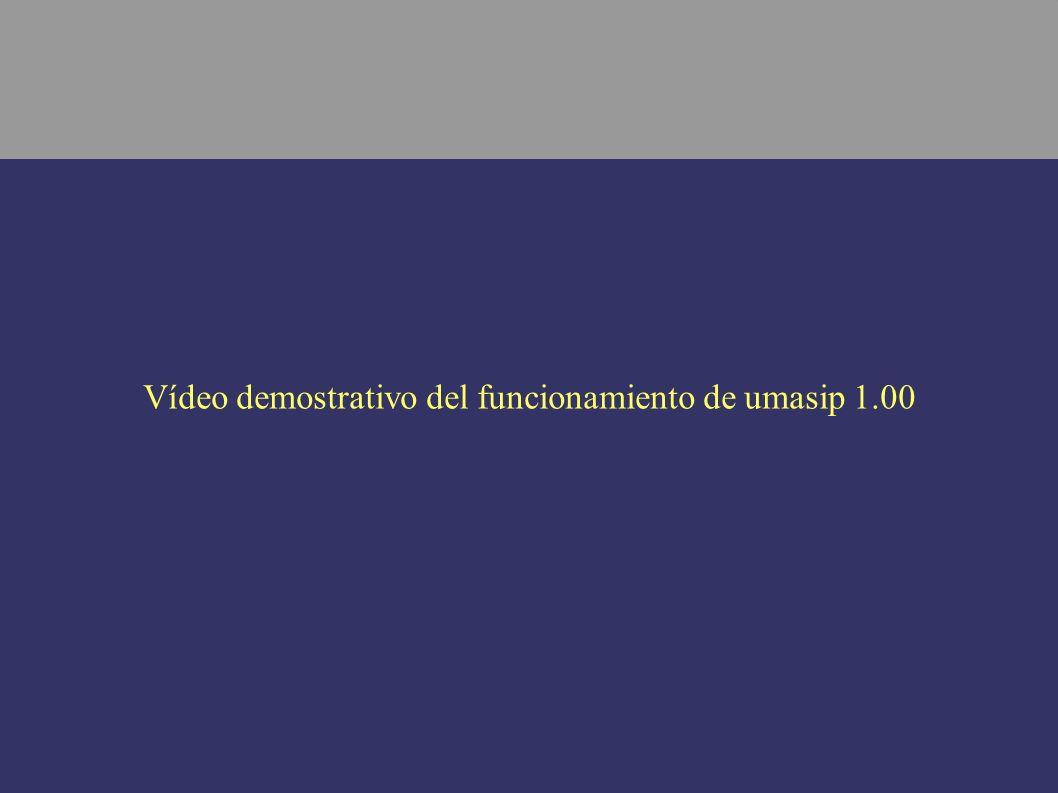 Vídeo demostrativo del funcionamiento de umasip 1.00