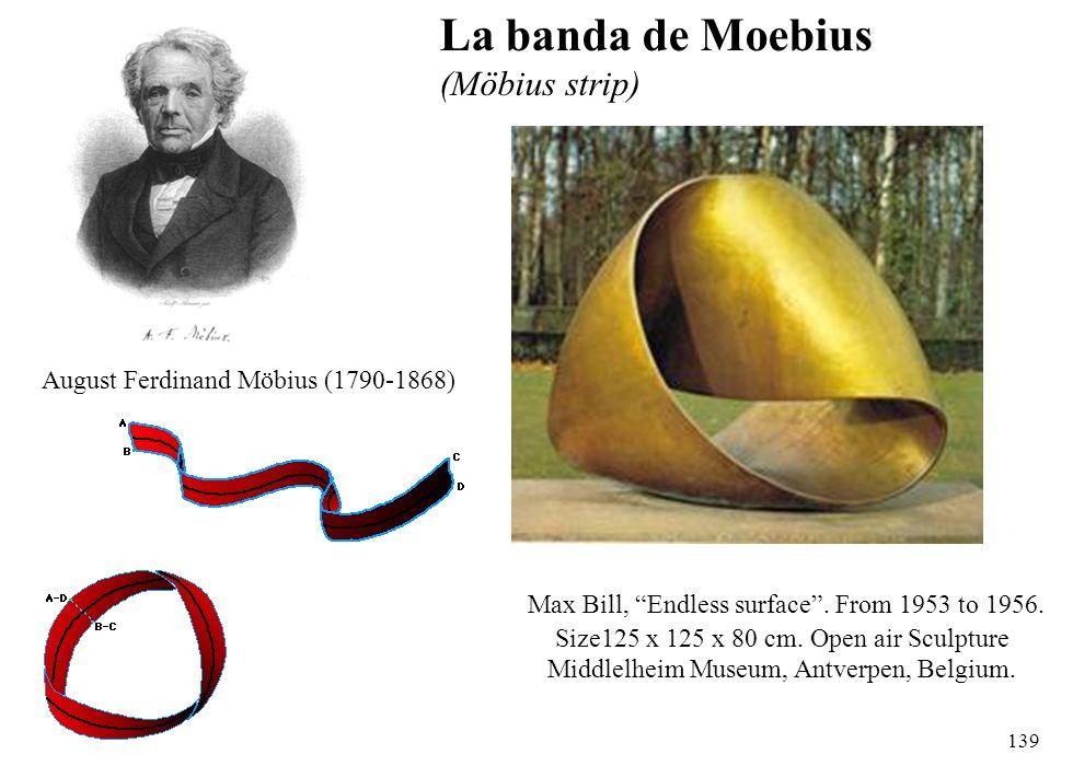 139 August Ferdinand Möbius (1790-1868) Max Bill, Endless surface. From 1953 to 1956. Size125 x 125 x 80 cm. Open air Sculpture Middlelheim Museum, An
