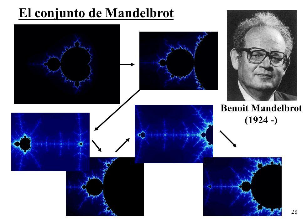 28 El conjunto de Mandelbrot Benoit Mandelbrot (1924 -)