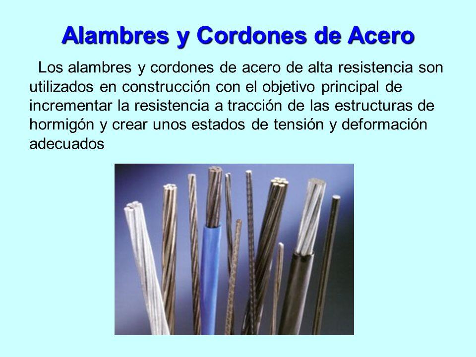 Alambres y Cordones de Acero Los alambres y cordones de acero de alta resistencia son utilizados en construcción con el objetivo principal de incremen