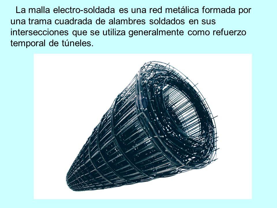 La malla electro-soldada es una red metálica formada por una trama cuadrada de alambres soldados en sus intersecciones que se utiliza generalmente com