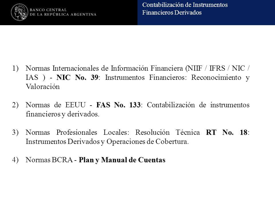 Contabilización de Instrumentos Financieros Derivados NIC No. 39 1)Normas Internacionales de Información Financiera (NIIF / IFRS / NIC / IAS ) - NIC N