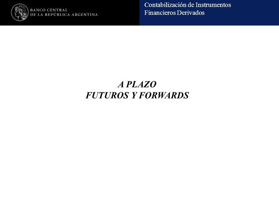 Contabilización de Instrumentos Financieros Derivados A PLAZO FUTUROS Y FORWARDS