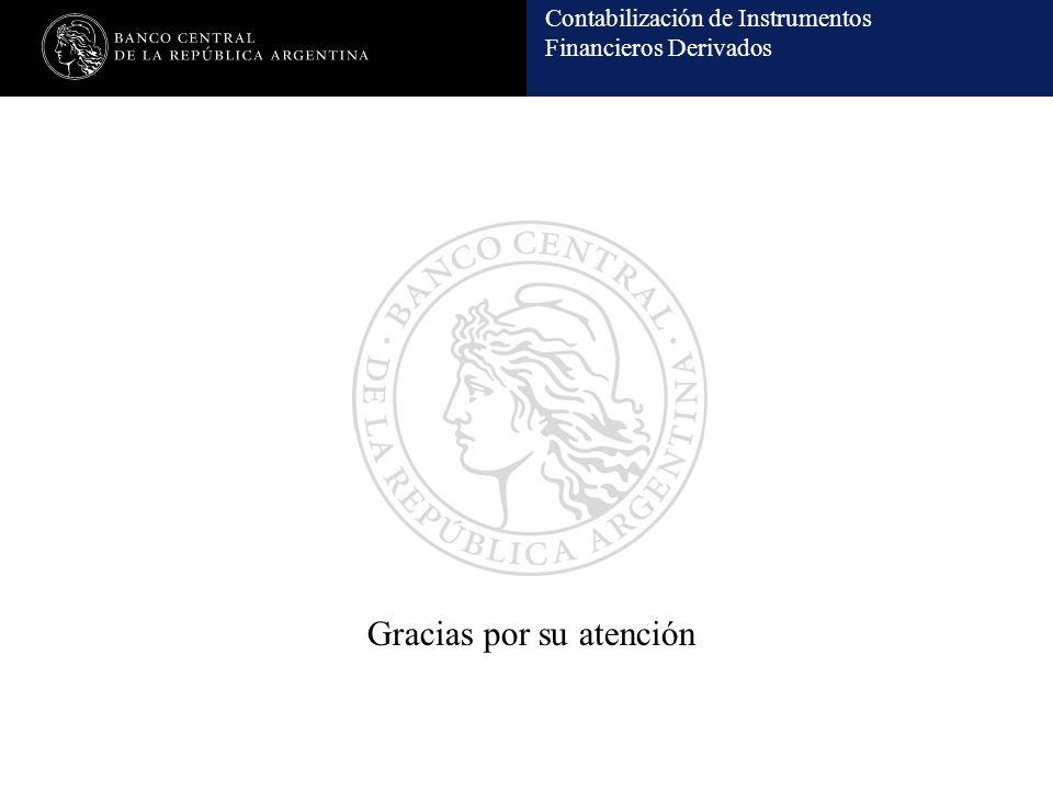 Contabilización de Instrumentos Financieros Derivados Gracias por su atención