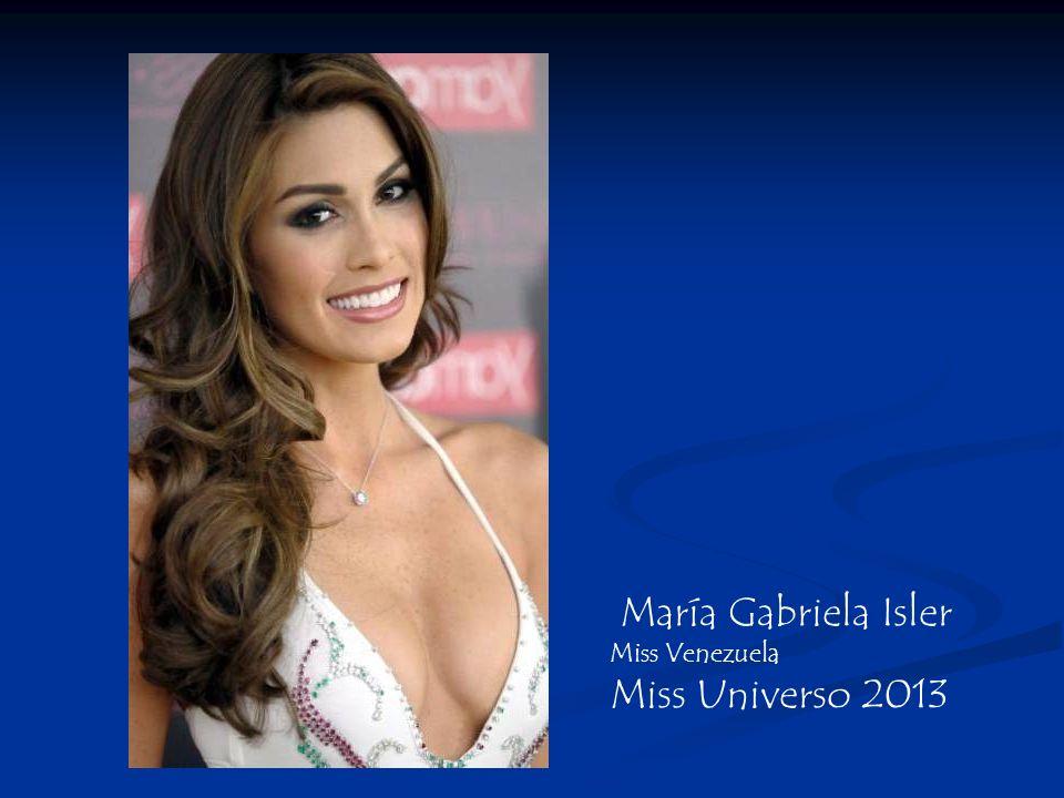 María Gabriela Isler Miss Venezuela Miss Universo 2013