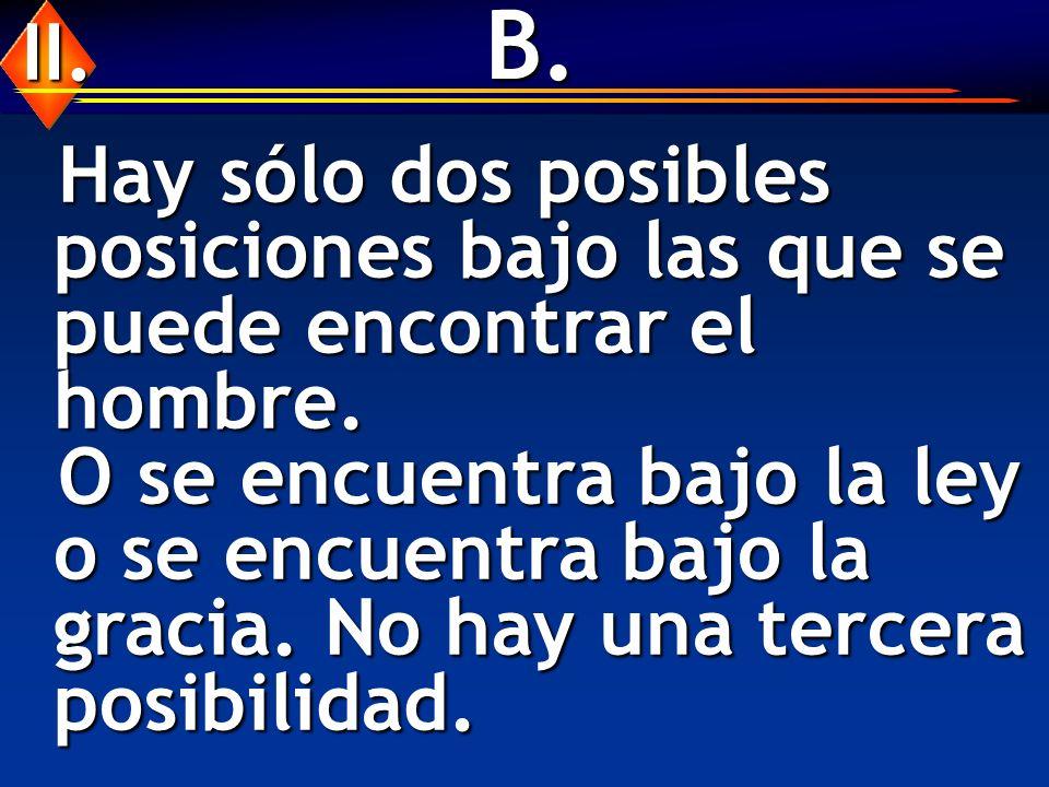 B.Hay sólo dos posibles posiciones bajo las que se puede encontrar el hombre.