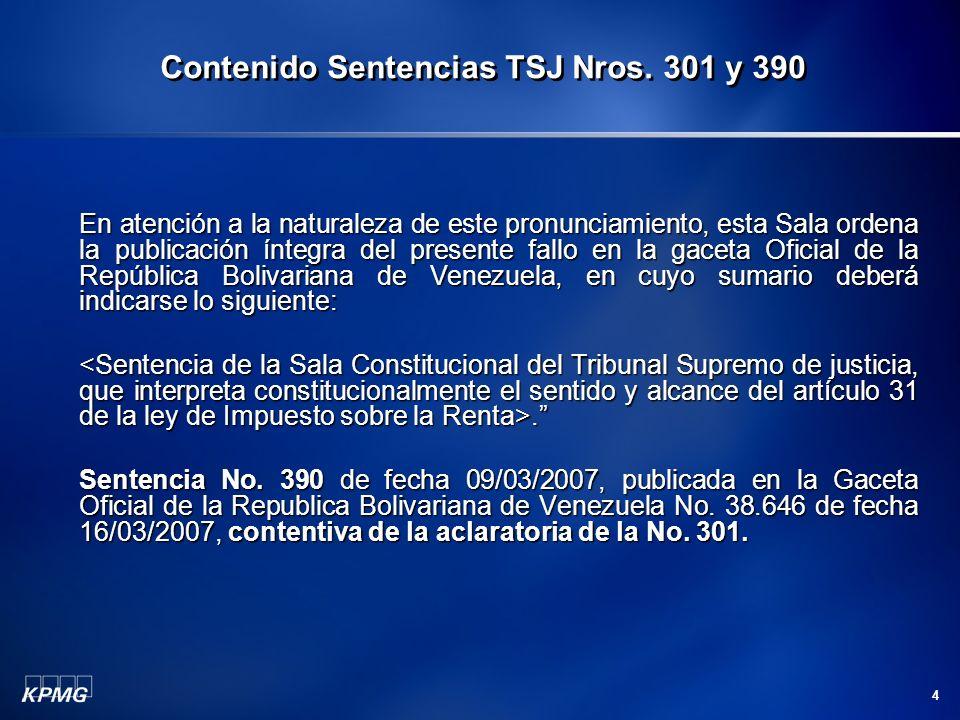 4 En atención a la naturaleza de este pronunciamiento, esta Sala ordena la publicación íntegra del presente fallo en la gaceta Oficial de la República Bolivariana de Venezuela, en cuyo sumario deberá indicarse lo siguiente:..
