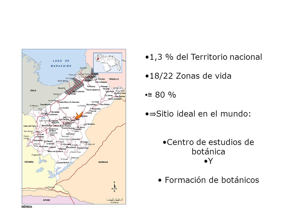 1,3 % del Territorio nacional 18/22 Zonas de vida 80 % Sitio ideal en el mundo: Centro de estudios de botánica Y Formación de botánicos