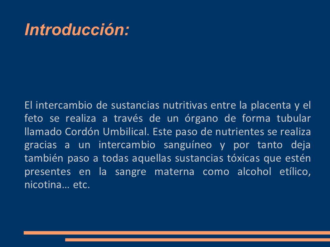 Introducción: El intercambio de sustancias nutritivas entre la placenta y el feto se realiza a través de un órgano de forma tubular llamado Cordón Umb