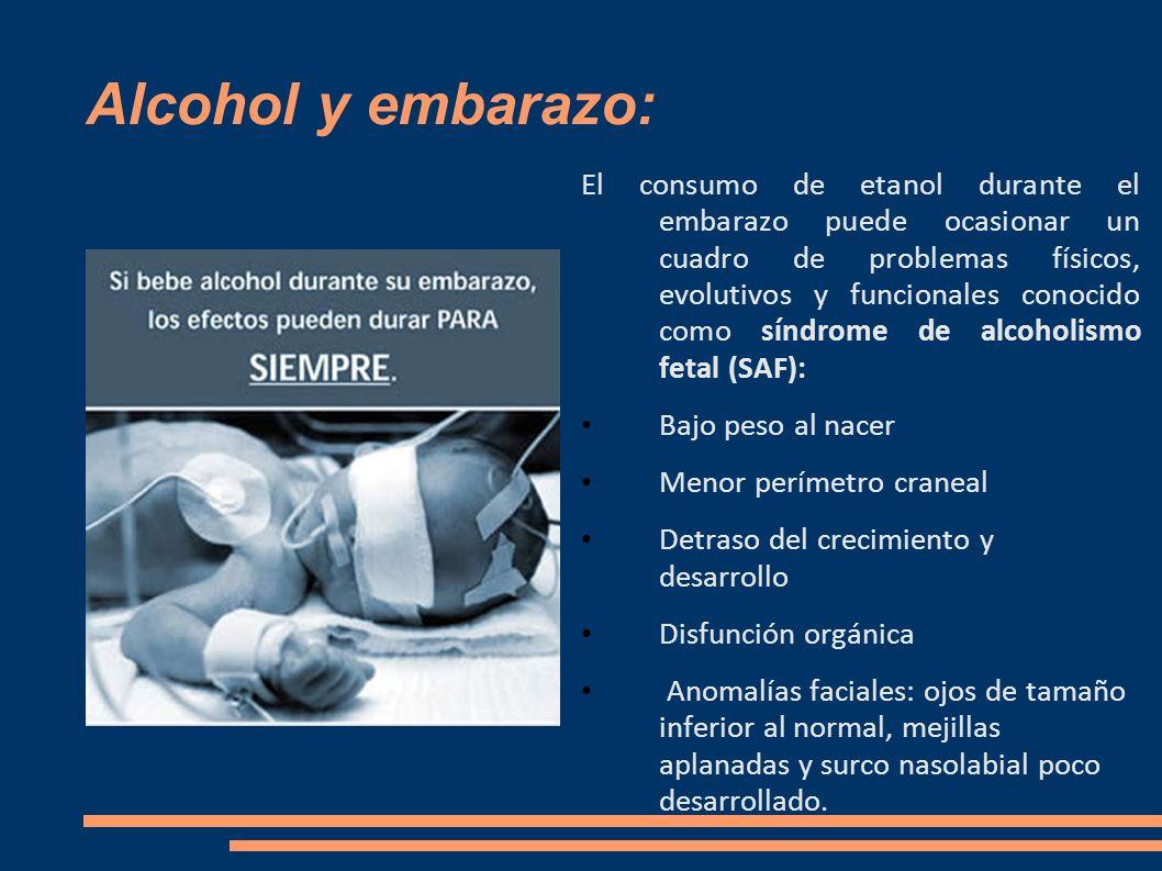 Alcohol y embarazo: El consumo de etanol durante el embarazo puede ocasionar un cuadro de problemas físicos, evolutivos y funcionales conocido como sí