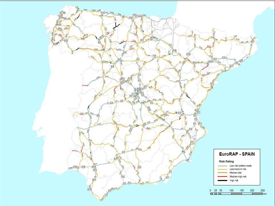 EuroRAP 20129 Mapa de riesgo en España