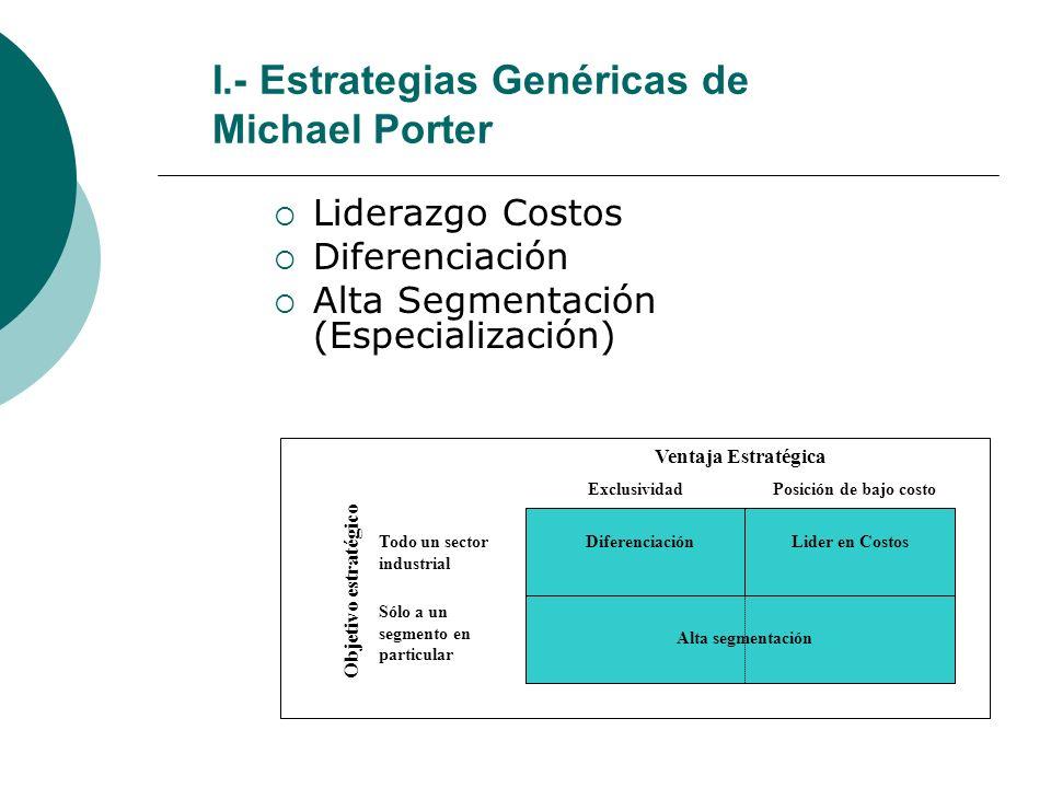 Características de la segmentación La empresa se encuentra en condiciones de alcanzar mayores rendimientos que el promedio de la industria.